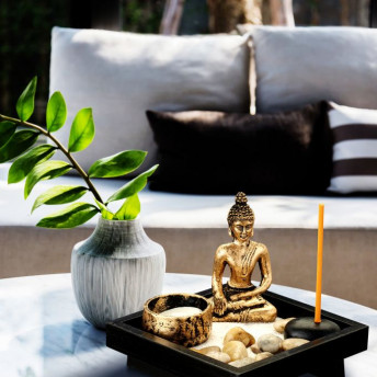 Mini Gradina Zen cu Buddha, 12.5 cm