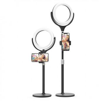 Lampa Circulara LED BlitzWolf BW-SL4 Make up Profesionala, Ring Light 64 Leduri cu Lumina Rece/Calda