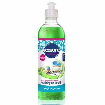 Solutie concentrata pt spalat vase, cu castravete si mar pt spalat vase, Ecozone, 500 ml