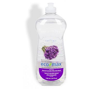 Solutie spalat vase, cu lavanda si aloe vera, Ecomax, 740 ml