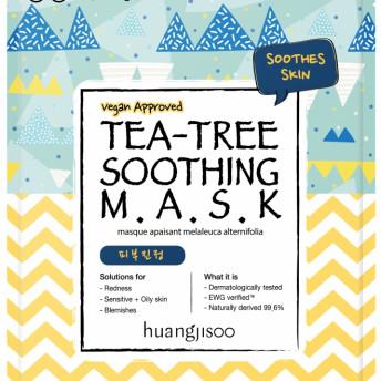 Masca calmanta de tip servetel cu tea tree, pt tenul sensibil cu probleme, Huangjisoo, 1 buc