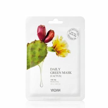 Masca de fata tip servetel, Daily Green cu extract de cactus, Yadah, 1 buc.