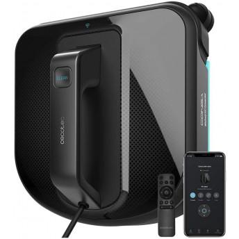 Robot curatare geamuri Cecotec Conga WinDroid 980 Connected, Aplicatie Smartphone, Telecomanda, Stergere uscata si umeda, 5 moduri de curatare