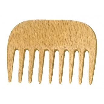 Pieptene AFRO, lemn de fag ceruit, dinti rari