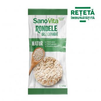 Rondele simple din orez, 56 g