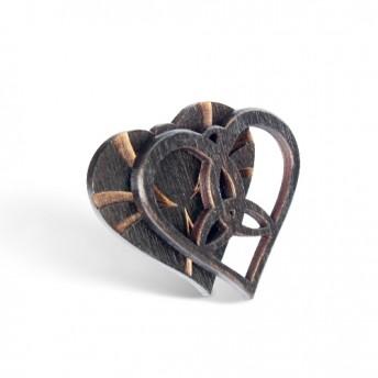 Amuleta din Lemn - The Triskelion Heart, Negru