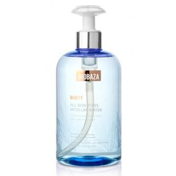 Apa micelara cu acid hialuronic pentru toate tipurile de ten, 500ml - BIOBAZA
