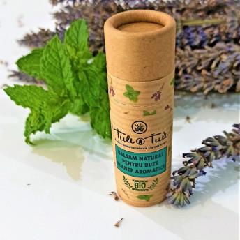Balsam Natural pentru Buze cu Plante Aromatice, 15 ml, Tuli a Tuli