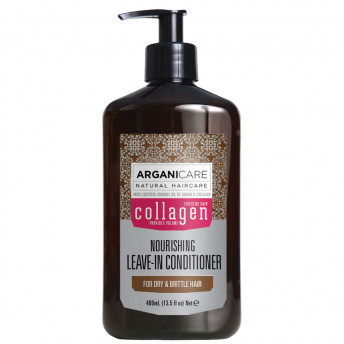Balsam fara clatire cu Colagen pentru par subtire, deteriorat si fragil, Arganicare, 400 ml