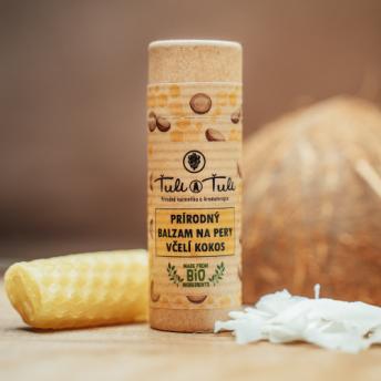 Balsam Natural pentru Buze cu Ceara de Albine si Cocos, 15 ml, Tuli a Tuli