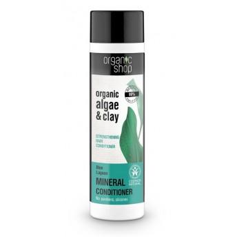 Balsam par fortifiant cu argila si extract de alge Blue Lagoon, 280 ml - Organic Shop