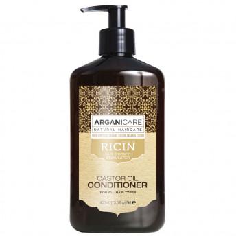 Balsam regenerant ultra-hranitor cu ulei de ricin pentru toate tipurile de par, Arganicare, 400 ml