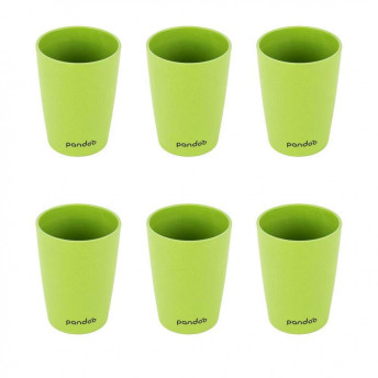 Set 6 pahare din bambus, verde