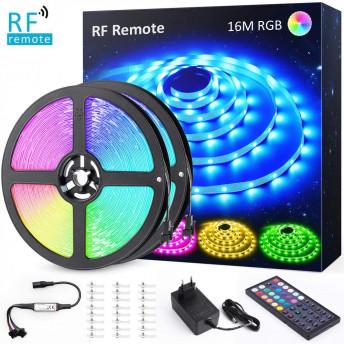 Banda LED RGB Novostela 12m, 360 Leduri, Telecomanda RF cu 44 butoane