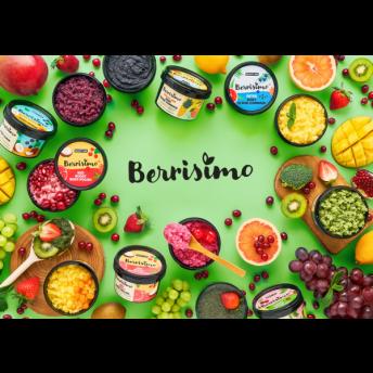 Scrub pentru corp cu ulei de portocale, grapefruit si menta si sare de mare, Berrisimo, Beauty Jar, 400g