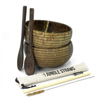 Set 2 Boluri din Nuca de Cocos + accesorii - model Striped