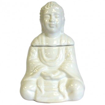 Vas Aromaterapie Meditating Buddha, alb