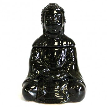 Vas Aromaterapie Meditating Buddha, negru