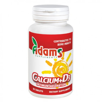 Calciu + Vitamina D3 30 tablete