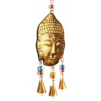Clopotei de Vant Buddha, Metalic, 37 cm