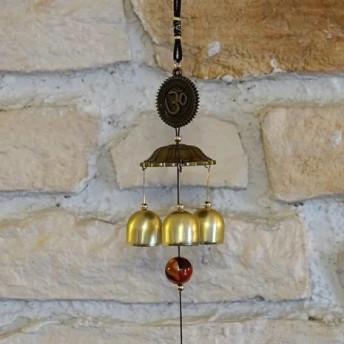 Clopotei de vant din metal cu 3 ramuri, Simbolul OM - 50cm