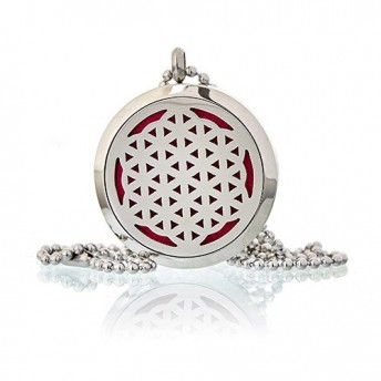 Colier aromaterapie Flower of Life, 30mm - Ancient Wisdom