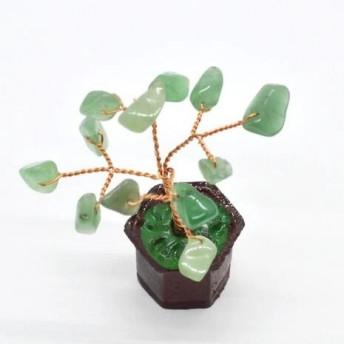 Copac in ghiveci cu pietre de aventurin - 8cm