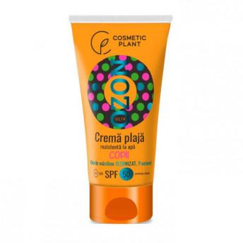 Crema plaja pentru copii OZON SPF50 rezistenta la apa cu ulei de masline ozonizat, 200 ml
