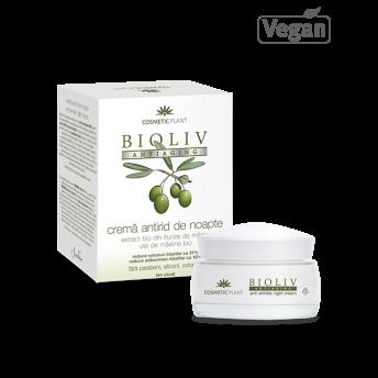 BIOLIV ANTIAGING - Cremă antirid de noapte, 50 ml, 35-70 ani, Cosmetic Plant