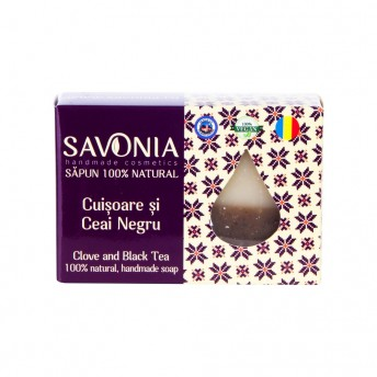 Sapun Natural Cuisoare si Ceai Negru Savonia