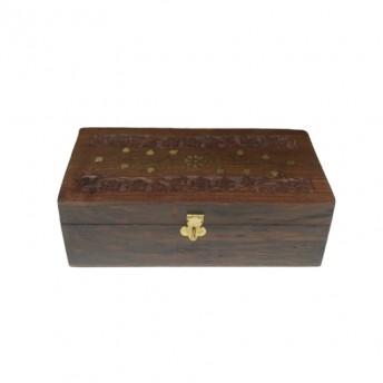 Cutie din lemn sculptata pentru 12 uleiuri esentiale