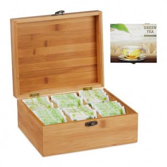 Cutie pentru Ceaiuri, 6 compartimente, lemn Bambus