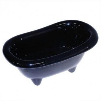 Mini cada de ceramica, neagra