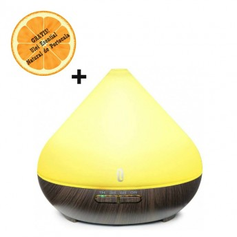 Difuzor aromaterapie cu Ultrasunete TaoTronics TT-AD002, 300ml, 13W, LED 7 culori, oprire automata + Ulei Esential Natural de Portocala