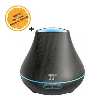 Difuzor aromaterapie TaoTronics TT-AD004, 400ml, 13W, 14 ore - Negru + Ulei Esential Natural de Portocala