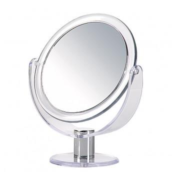 Oglinda cosmetica dubla, Marire 5X, Transparent