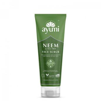 Exfoliant facial cu Neem & Tea Tree, Ayumi, 125 ml