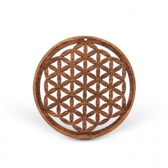 Amuleta din lemn - The Flower of Life, Maro