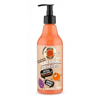 Gel de dus natural Energy Bomb Skin Supergood, 500ml - Planeta Organica
