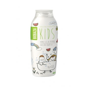 Gel de dus pentru copii cu aroma de pepene, 250 ml - BIOBAZA