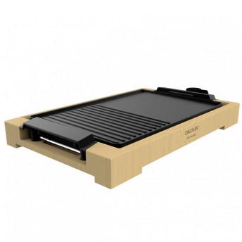 Gratar electric Cecotec Tasty&Grill 2000 Bamboo, 2000W, cadru din bambus, termostat reglabil