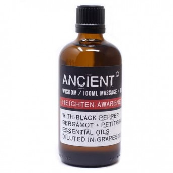 Ulei pentru masaj Heighten Awareness, 100 ml, Ancient Wisdom