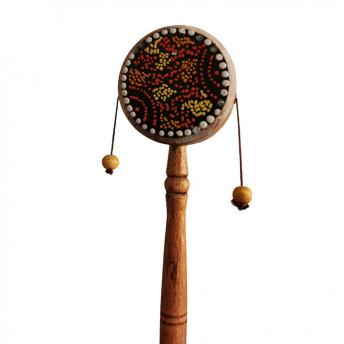 Taba de Mana cu bile Bali, Din Lemn si Piele, 21 cm