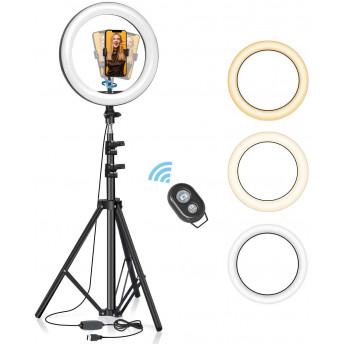 Lampa Circulara LED BlitzWolf BW-SL2 Make up Profesionala, Ring Light 120 Leduri cu Lumina Rece/Calda