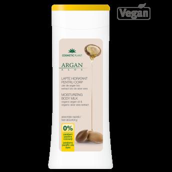 Lapte corp hidratant cu ulei de argan bio si extract bio de aloe vera, 200 ml, Cosmetic Plant