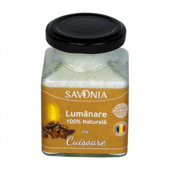 Cuisoare - Lumanare 100% Naturala 200 g, Savonia