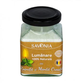 Roinita si Menta Creata - Lumanare 100% Naturala 200 g, Savonia