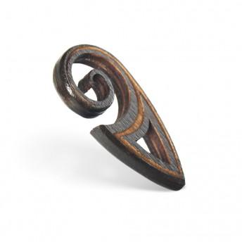 Amuleta din Lemn – The Maori Koru, Negru