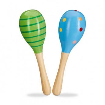 Set 2 Maracas 18 cm (Albastru si Verde), pentru Baieti
