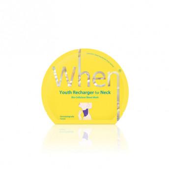 Masca coreana regeneranta din bioceluloza pentru zona gatului, 18 ml, When